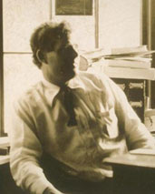 Jack London in his study